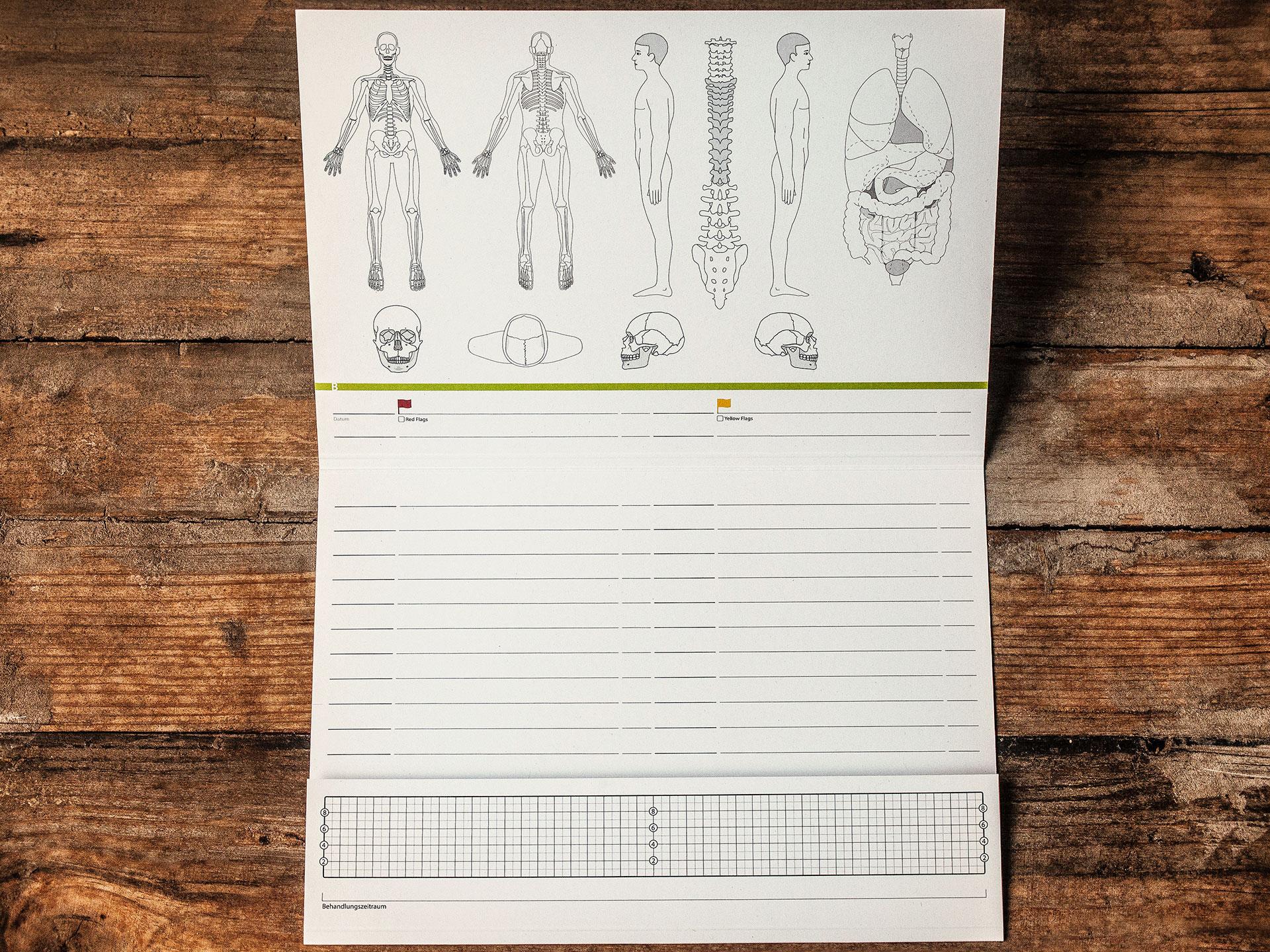 Patientenkarteikarte Osteopathie, Physiotherapie & Manuelle Medizin