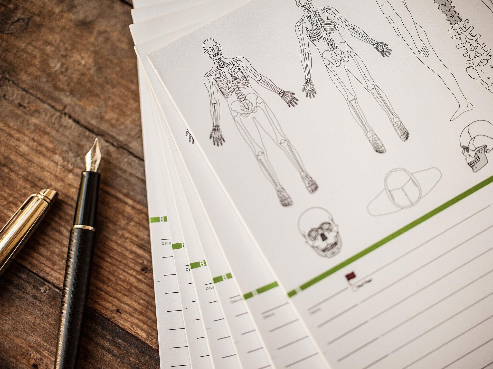 Befundblatt Osteopathie
