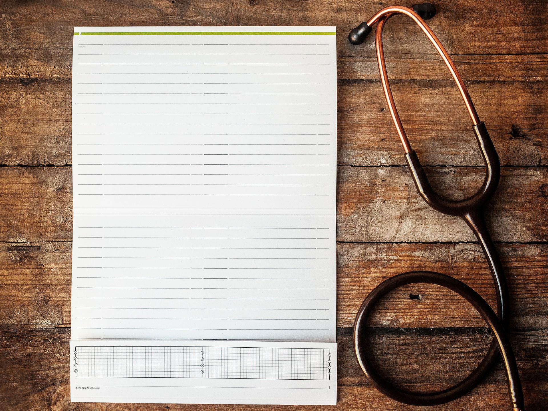 Patientenkarteikarte Arzt / Heilpraktiker